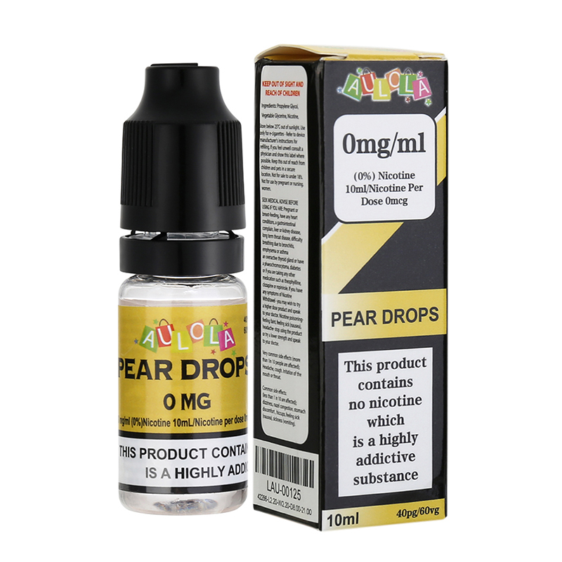 Aulola E Liquid Vape Juice--Pear Drops Flavours-0mg-10ml