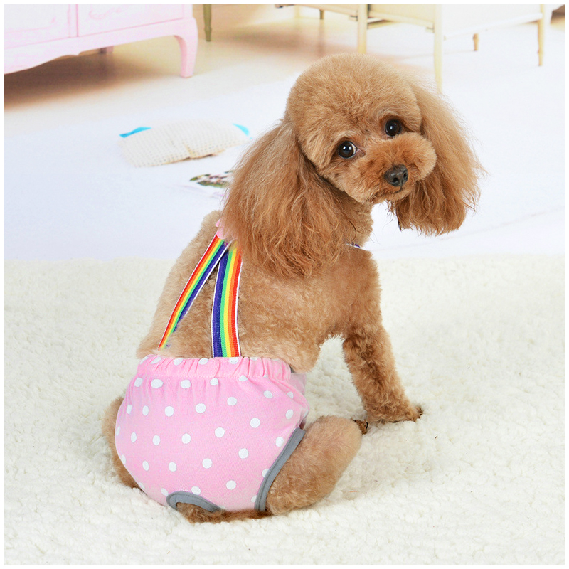 Size XL FemaXLe Pet Dog Cotton Sanitary PhysioXLogicaXL Pants Underwear Nappy Diapers - Pink Point