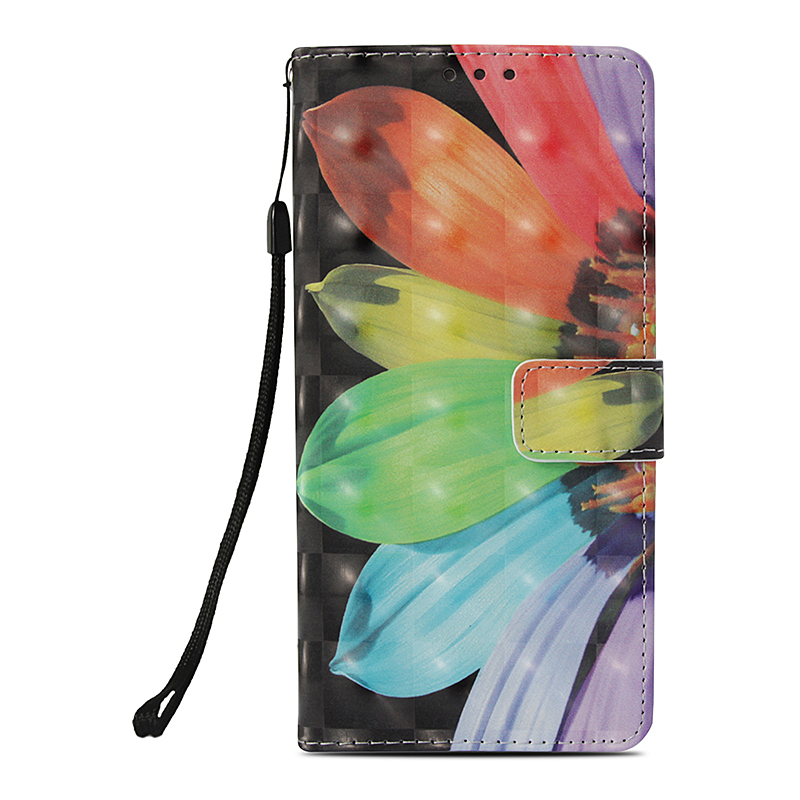 Pattern Painted PU Leather Wallet Flip Stand Case Cover with Card Slots Rope for Samsung Note 9 - Pattern 4