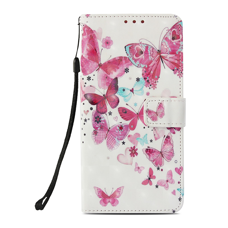 Butterfly Painted Pattern PU Leather Case Magnetic Wallet Flip Stand Cover for Samsung Note 9 - Butterfly 1