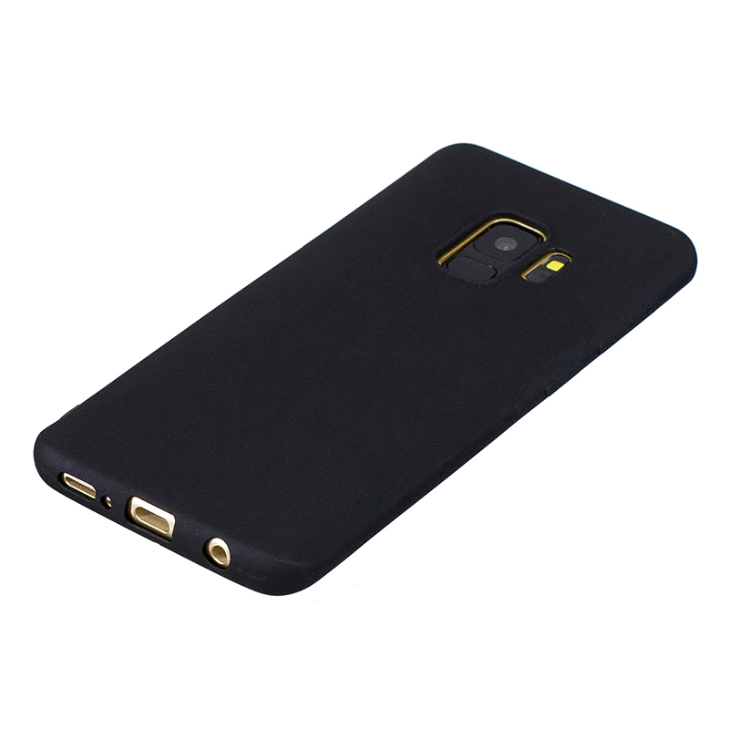 Slim Flexible Soft Rubber TPU Shockproof Case Back Cover for Samsung S9 - Black