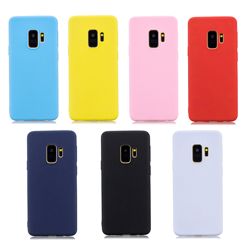 Slim Flexible Soft Rubber TPU Shockproof Case Back Cover for Samsung S9 - Pink