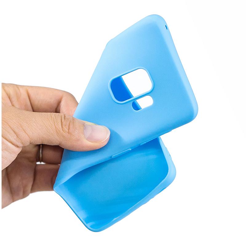 Slim Flexible Soft Rubber TPU Shockproof Case Back Cover for Samsung S9 - Blue
