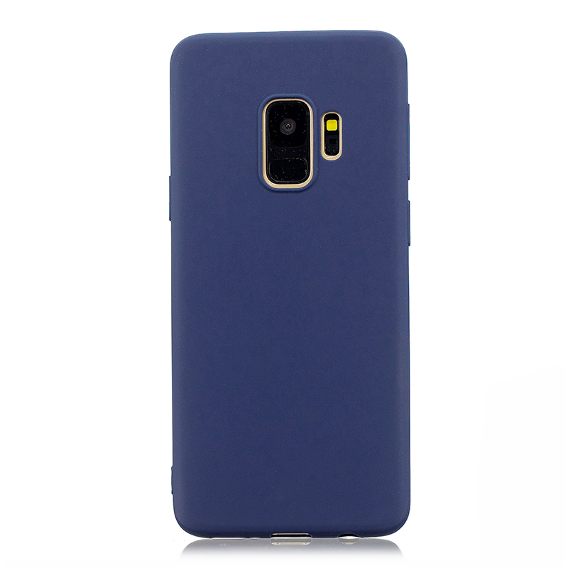 Slim Flexible Soft Rubber TPU Shockproof Case Back Cover for Samsung S9 - Navy Blue