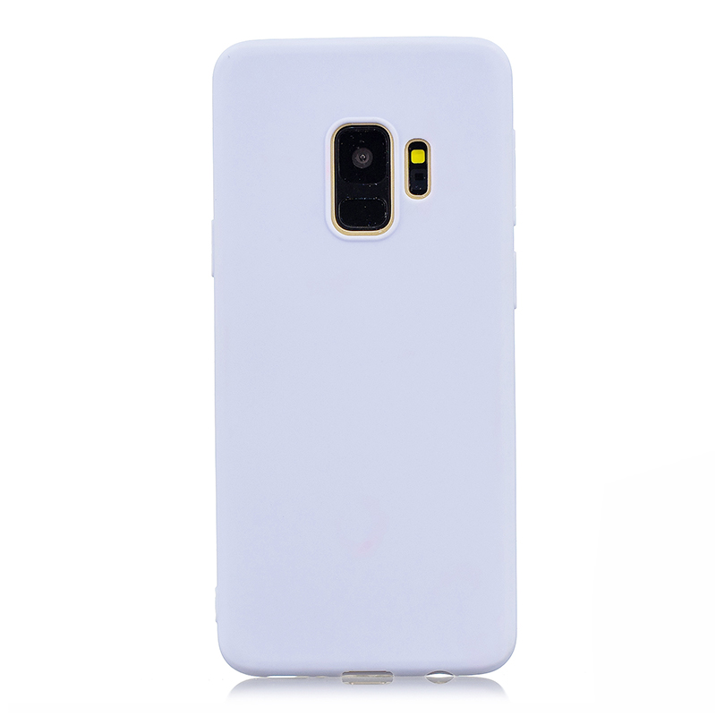 Slim Flexible Soft Rubber TPU Shockproof Case Back Cover for Samsung S9 - Light Purple
