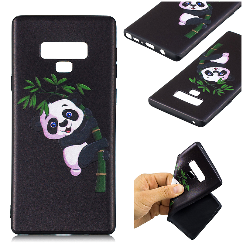 Painting Embossed Flexible TPU Case Soft Rubber Shockproof Back Cover for Samsung Note 9 - Pattern 3
