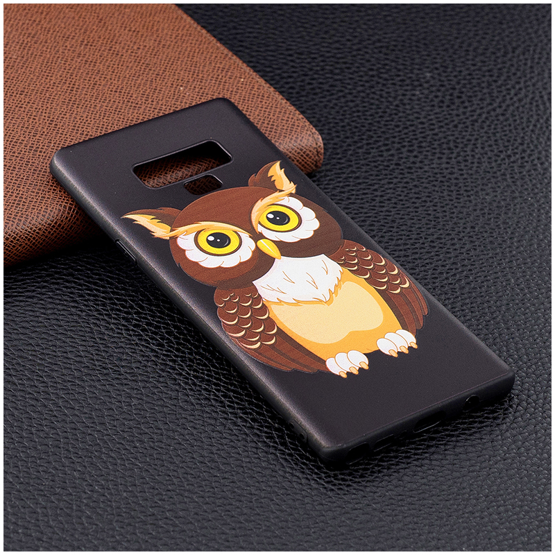 Painting Embossed Flexible TPU Case Soft Rubber Shockproof Back Cover for Samsung Note 9 - Pattern 6