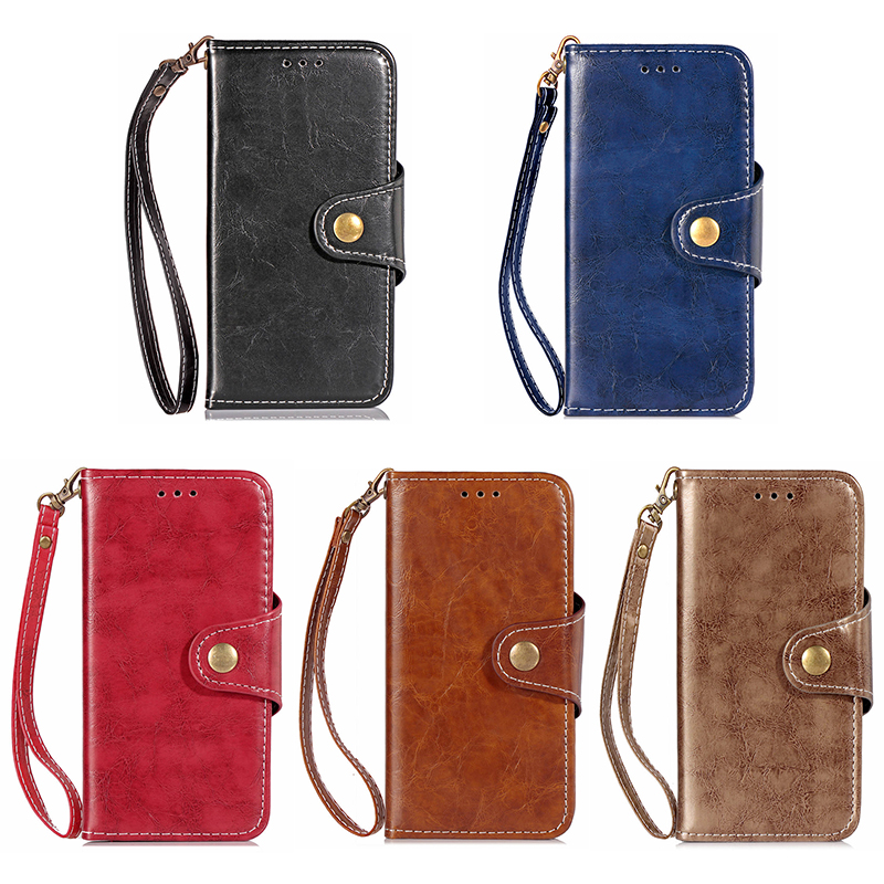 Vintage Retro PU Leather Wallet Case Cover with TPU Bump Rope for Samsung Note 9 - Brown