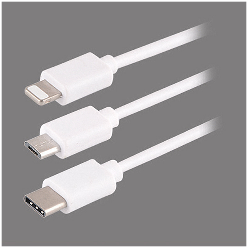 30CM 3in1 Universal Multi USB Charge Cable Cord Adapter for Lightning Micro USB Type C Charging