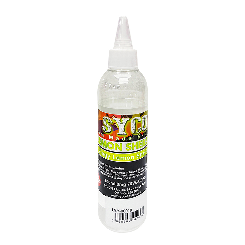 SYCO 100ML E-Liquid 70VG E Juice-Lemon Shebert Flavours