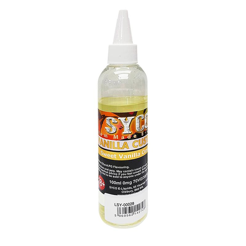 SYCO 100ML E-Liquid 70VG E Juice-Vanilla Custard Flavours