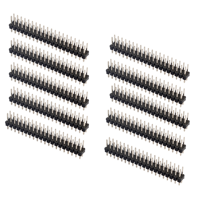 10Pcs 2.54mm Pitch 2x20 40Pin Right Angle PCB Connector Pin Headers