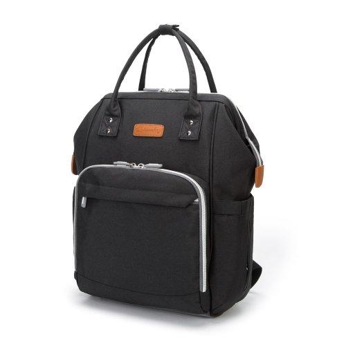 Mummy Maternity Baby Diaper Bag Travel Backpack Nappy Organizer Nursing Bottle - Black