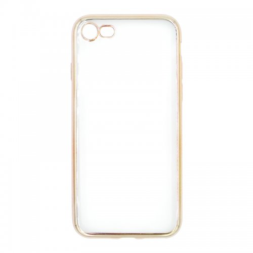 Crystal Shockproof Clear Soft TPU Gel Back Cover Case for iPhone 7 - Gold