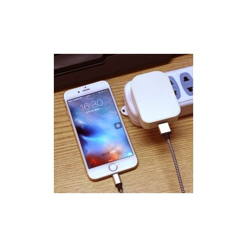 TH28 Foldable Single USB Port UK Charger- White