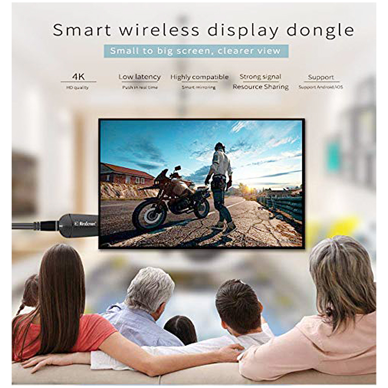 MiraScreen K6 4K Wifi Display Dongle Wireless HD TV Miracast Airplay Adapter