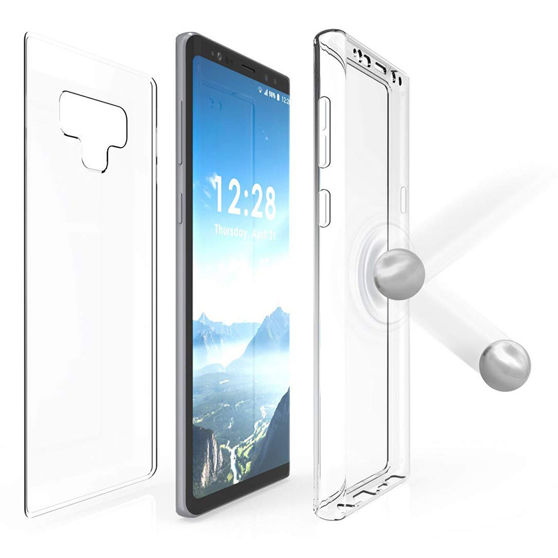 360 Degree Full Body Protection Slim Clear TPU Case Cover for Samsung Note 9
