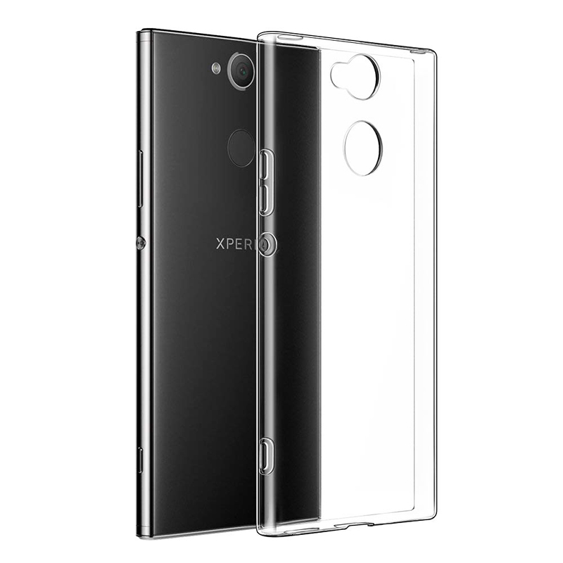 Ultra Thin Slim Clear Gel TPU Silicone Shockproof Case Back Cover for Sony Xperia XA2
