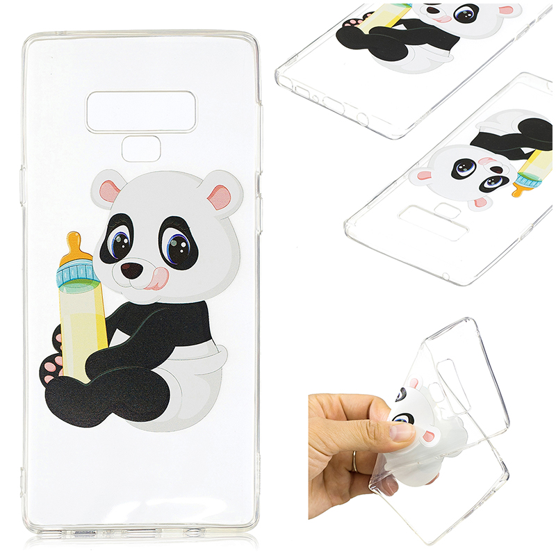 3D Pattern Painting Clear Soft TPU Shockproof Case Back Cover for Samsung Note 9 - Pattern 6