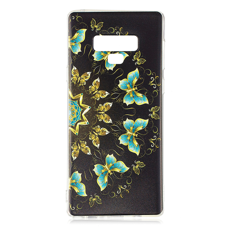 3D Pattern Painting Clear Soft TPU Shockproof Case Back Cover for Samsung Note 9 - Pattern 10