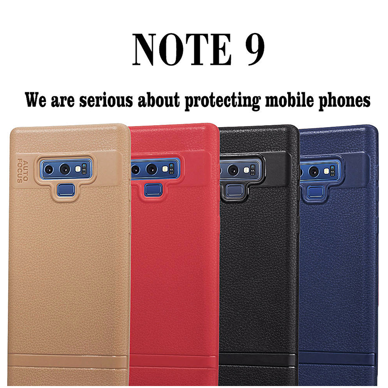 Slim Soft TPU Rubber Shockproof Anti-slip Case Back Cover for Samsung Note 9 - Brown