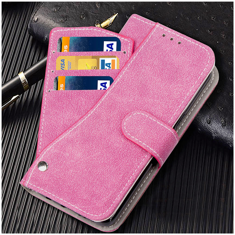 Grind Texture Multi-Pockets Magnetic PU Leather Case Cover Shell for Samsung Note 9 - Rose Red
