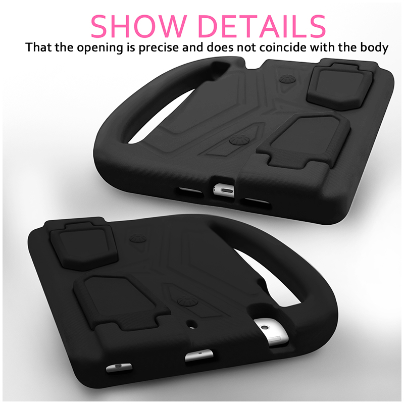 Kids Shockproof EVA Foam Stand Case Cover for Apple iPad Mini 2/3/4 - Black