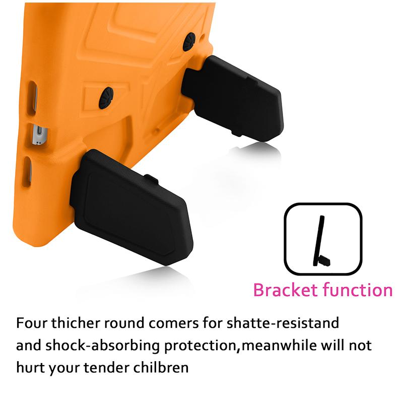 Kids Shockproof EVA Foam Stand Case Cover for Apple iPad Mini 2/3/4 - Orange