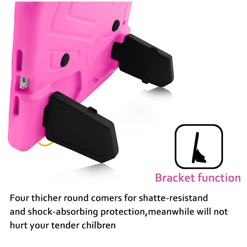 Kids Shockproof EVA Foam Stand Case Cover for Apple iPad Mini 2/3/4 - Pink