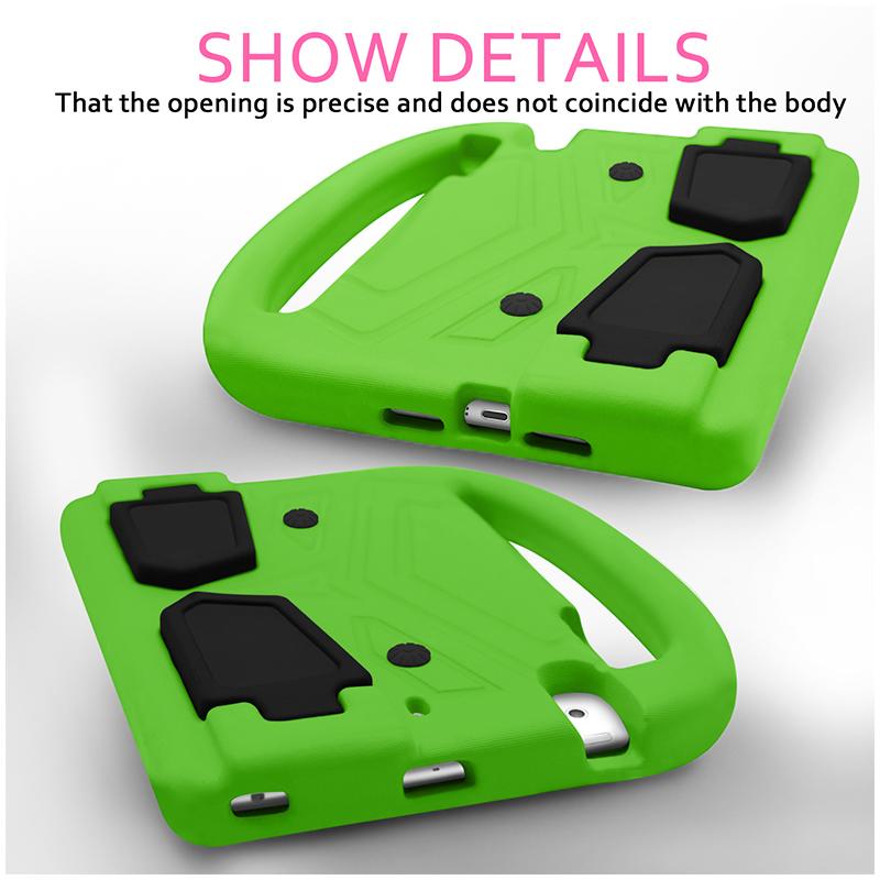 Shockproof EVA Foam Stand Case Cover for Apple iPad Mini 2/3/4 - Green