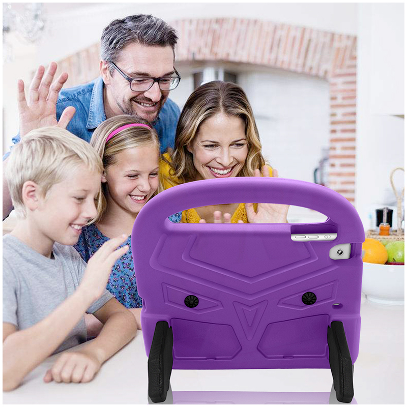 Kids Shockproof EVA Foam Stand Case Cover for Apple iPad Mini 2/3/4 - Purple