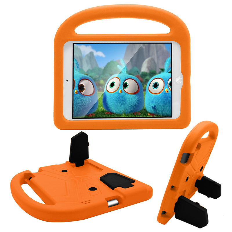 iPad 2/3/4 Kids Shockproof EVA Foam Case Back Cover with Kickstand - Orange
