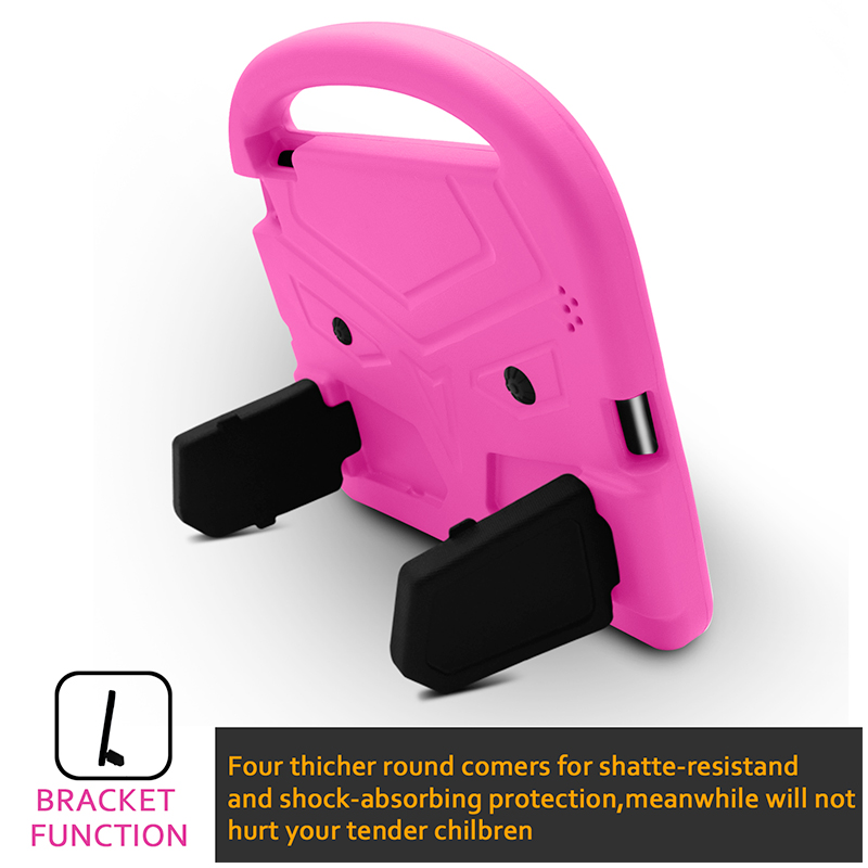 iPad 2/3/4 Kids Shockproof EVA Foam Case Back Cover with Kickstand - Pink