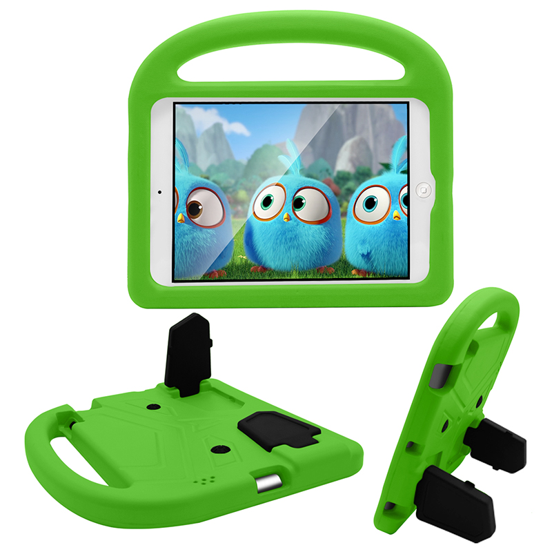 iPad 2/3/4 Kids Shockproof EVA Foam Case Back Cover with Kickstand - Green