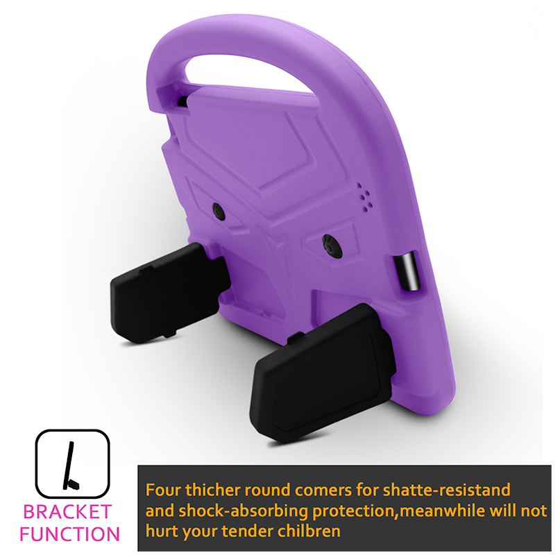 iPad 2/3/4 Kids Shockproof EVA Foam Case Back Cover with Kickstand - Purple