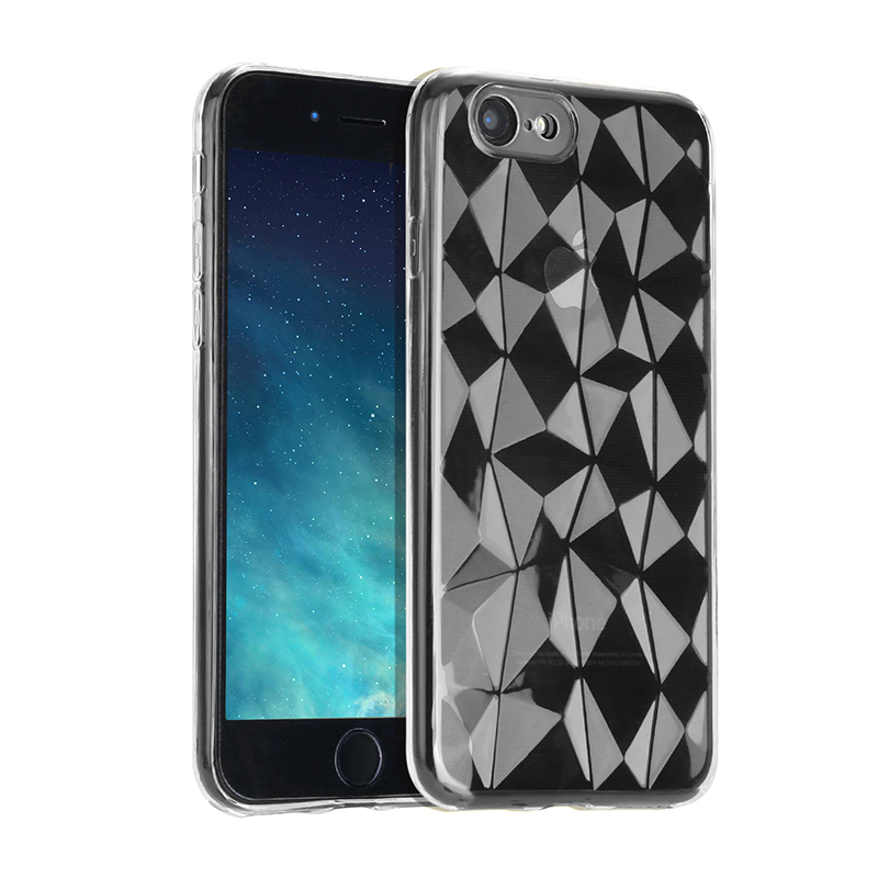 Diamond Prism Clear Soft TPU Shockproof Case Back Cover for iPhone 6/6S Plus - Transparent