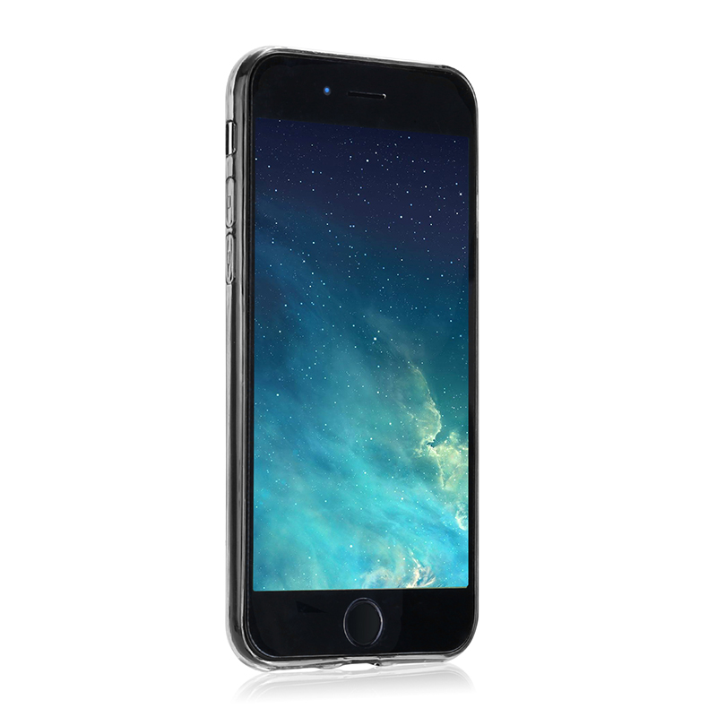 Slim Diamond Texture Soft TPU Case Anti Slip Silicone Back Cover for iPhone 7/8 - Black