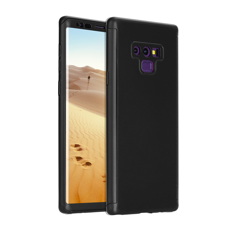 Full Body Protection Hard PC Case Back Cover for Samsung Note 9 - Black