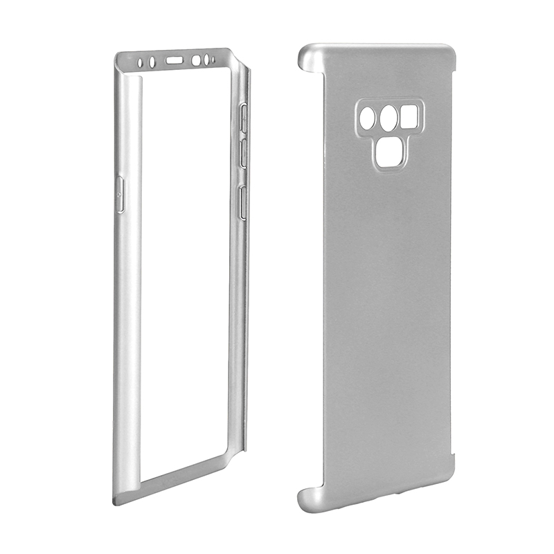 Full Body Protection Hard PC Case Back Cover for Samsung Note 9 - Silver