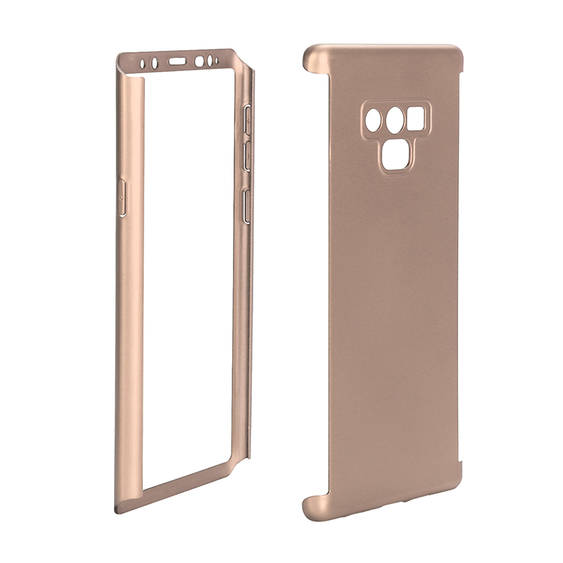 Full Body Protection Hard PC Case Back Cover for Samsung Note 9 - Golden