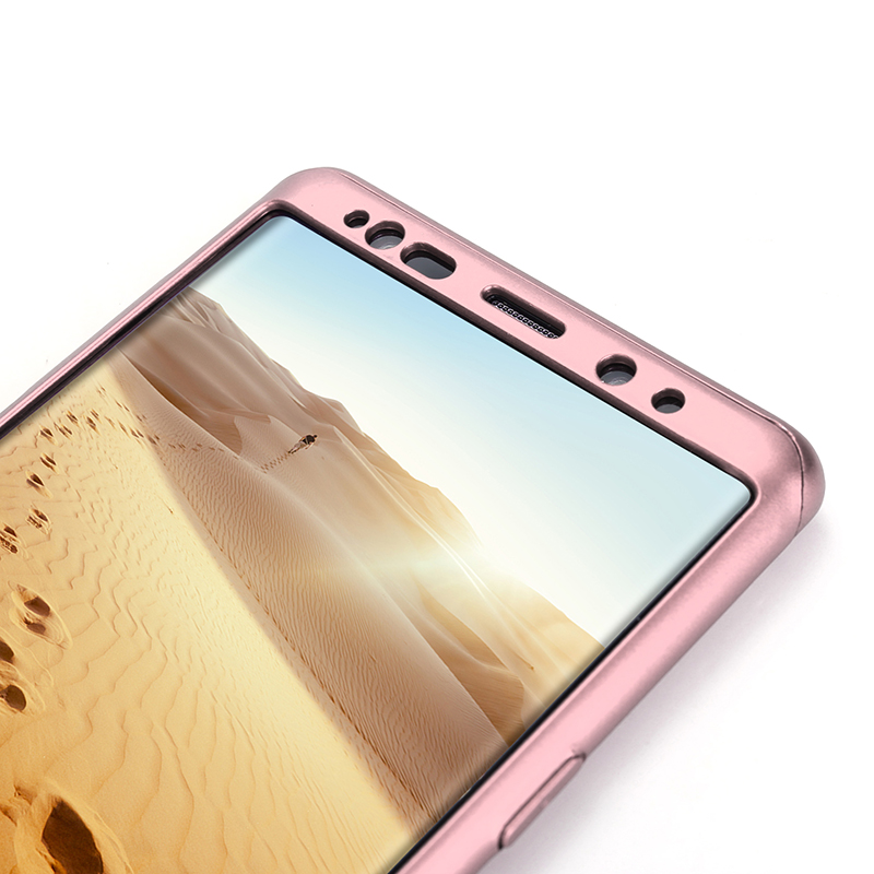 Full Body Protection Hard PC Case Back Cover for Samsung Note 9 - Rose Golden