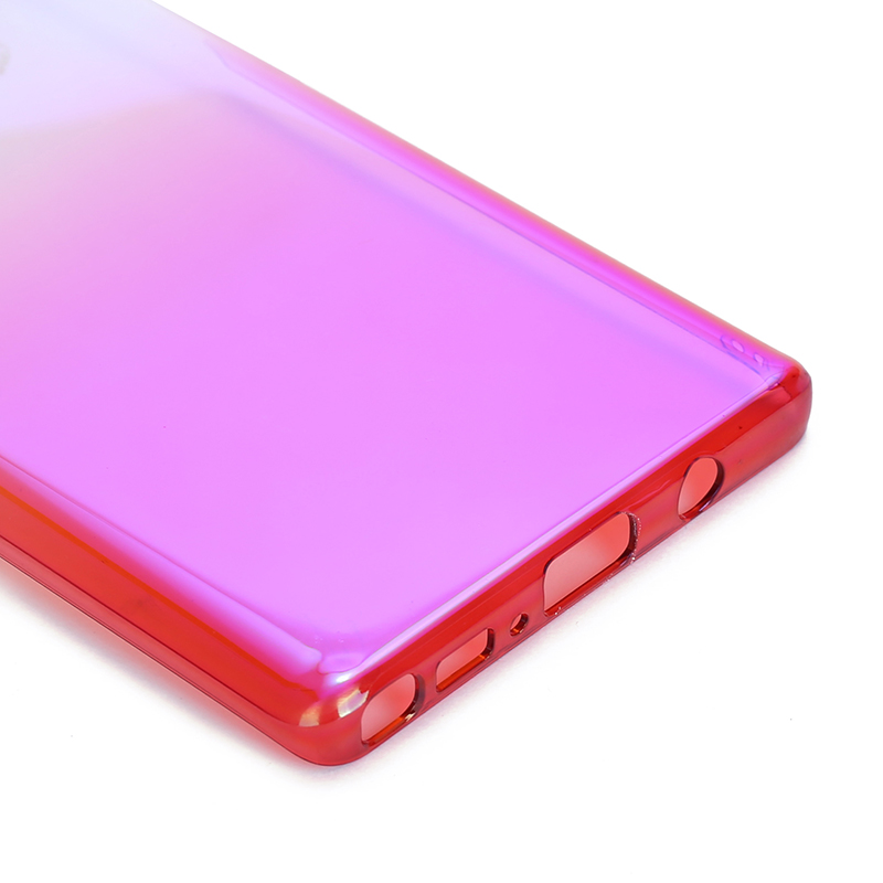 Ultra-Thin Slim Gradient Ramp Colorful PC Hard Case Back Cover for Samsung Note 9 - Red