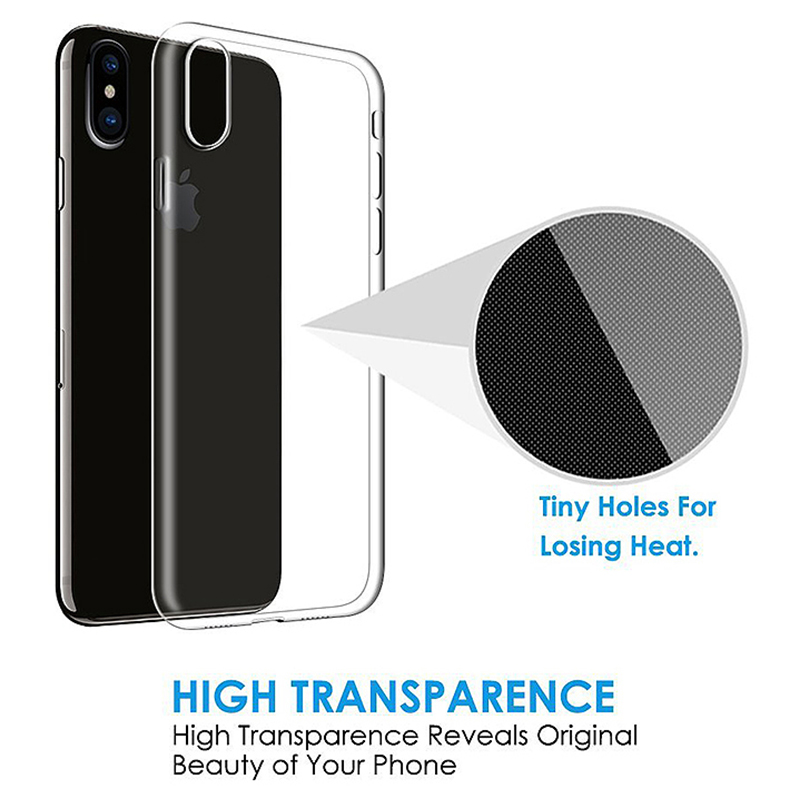 Ultra Thin Crystal Clear Soft Silicone TPU Case Back Cover for iPhone XS Max