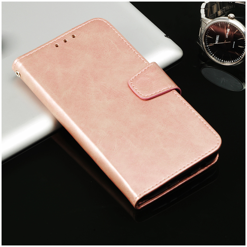 Luxury Flip Retro Style PU Leather Magnetic Wallet Case Cover for iPhone X/XS - Rose Golden