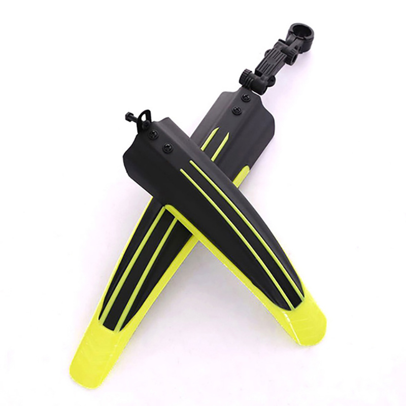 2Pcs Bicycle Cycling Front/Rear Mud Guards Set Mountain Bike Tire Fenders - Yellow