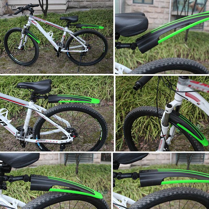 2PCS Mountain Bicycle Front+Rear Tire Fenders Cycling Bike Anti-Mud Mudguard Set