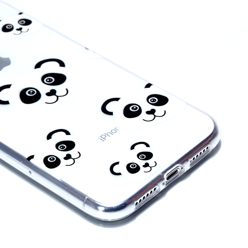 Soft Silicone Rubber Phone Case Pattern Printed TPU Case for iPhone XR - Panda