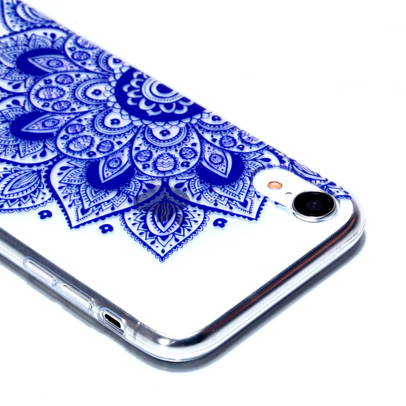 Soft Silicone Rubber Phone Case Pattern Printed TPU Case for iPhone XR - Folk Custom