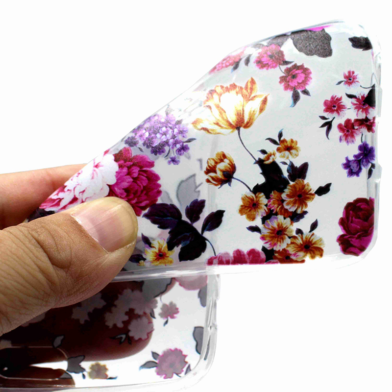 Soft Silicone Rubber Phone Case Pattern Printed TPU Case for iPhone XR - Flower