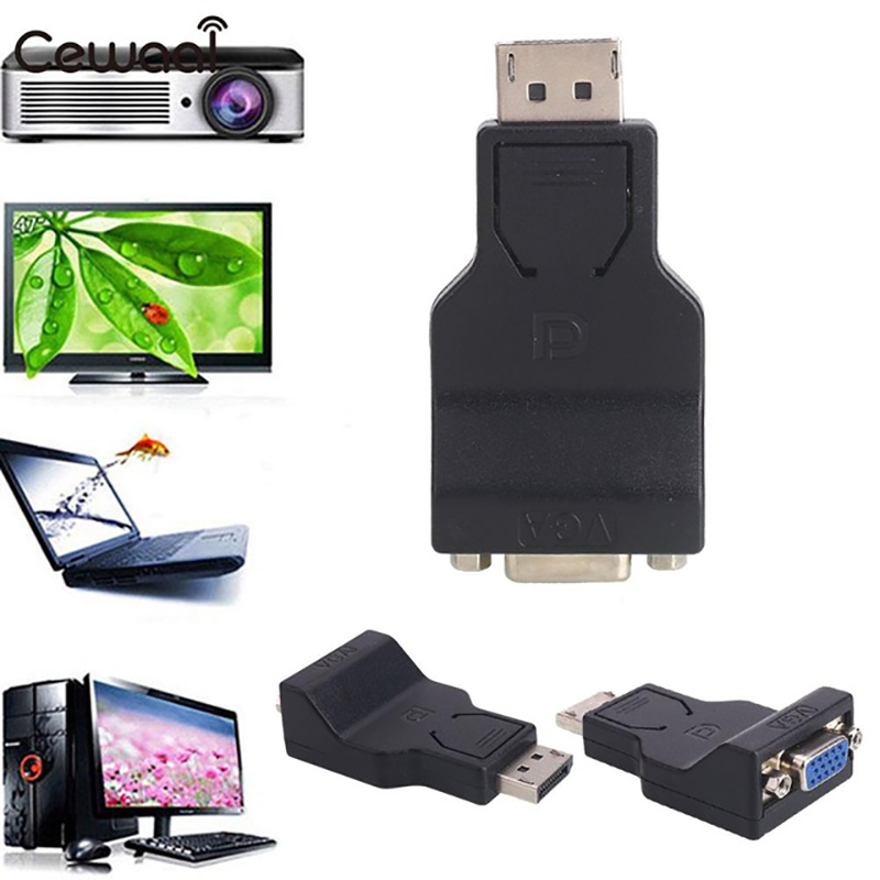 DP to VGA Cable Adapter Plug DisplayPort To VGA Adapter Video Accessories